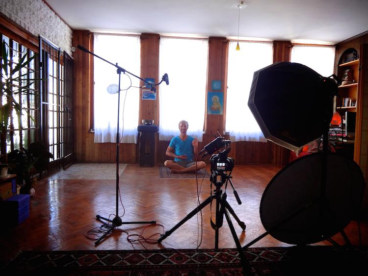 Filming Yoga Online Class Johann Kotze